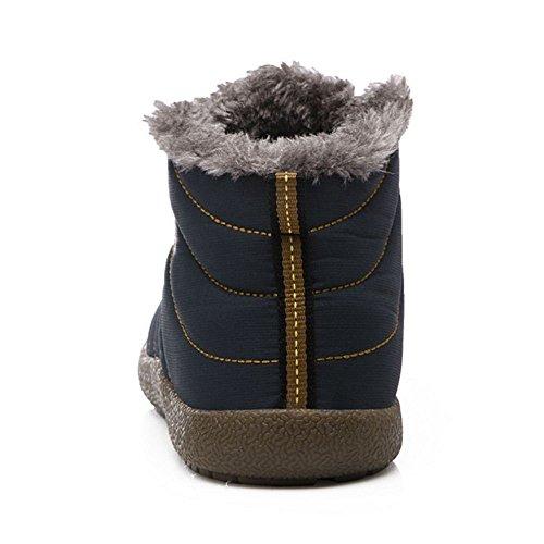Shoes Slip KemeKiss Blue Warm Winter Couple Men Inner Dark On Boots qBAR65x