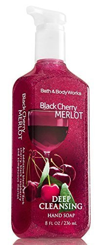 Bath & Body Works Deep Cleansing Hand Soap Black Cherry (Lemon Verbena Foaming Bath)