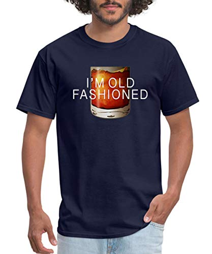 Spreadshirt I'm Old Fashioned Whiskey Cocktail Men's T-Shirt, 3XL, Navy ()