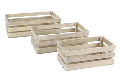 benzara-shabby-white-wood-crate-barrel-set-3-pcs
