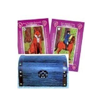 Die 56 Geja-Lenormandkarten, in Holzschatulle