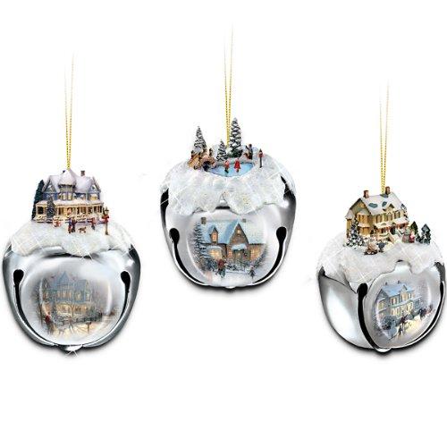 The Ashton-Drake Galleries Thomas Kinkade Sleigh Bells Christmas Tree Ornaments