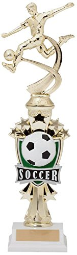 Decade Awards Soccer Sport Motion All Star Trophy - Male | Classic Futbol Award | 14 Inch Tall - Customize Now