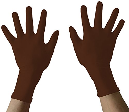 Seeksmile Adult Lycra Spandex Gloves Many Colors Available (Free Size, coffee)