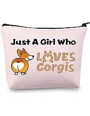 Corgi Cosmetische Tas Corgi Geschenken voor Corgi Liefhebbers Make-up Bag Gewoon een Meisje die houdt van Corgi Pouch Bag