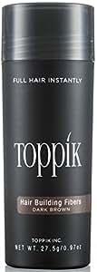 TOPPIK Hair Building Fibers, Dark Brown, 0.97 oz.