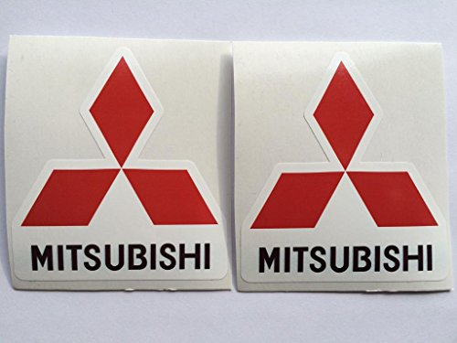 (2 Mitsubishi Die Cut Decals)