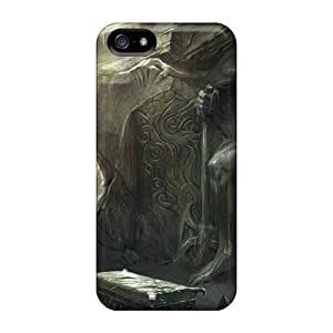 Flexible Tpu Back Cases Covers For Samsung Galaxy S5 I9600/G9006/G9008 - Video Game The Elder Scrolls V Skyrim Dungeons Daedric Statue