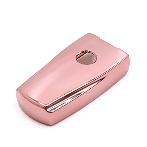 uxcell Pink Plastic Remote Key Case Holder Shell Protect Cover Fit For Volkswagen by uxcell