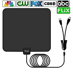 Antenna,Pacoso 75 Mile Range Amplified HDTV Antenna with Detachable Amplifier Signal Booster,2018 New Version Digital Antenna Local Broadcast 4K/HD/VHF/UHF Signal TV Channels for Smart Television
