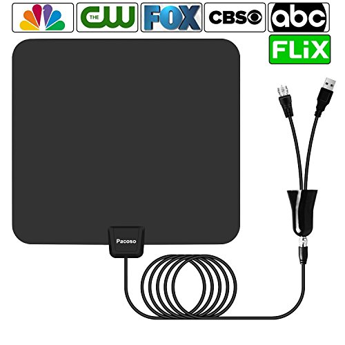 le Range Amplified TV Antenna with Detachable Amplifier Signal Booster,2018 New Version Digital Antenna Local Broadcast 4K/HD/VHF/UHF Signal TV Channels for Smart Television (Best Antenna For Digital Tv)
