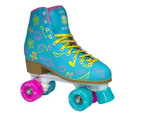 Epic Skates Epic Splash Quad Roller Skates, Blue, Juvenile 13