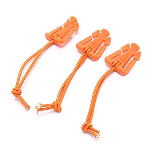 Outdoor - Sports - 3pcs Elastic Rope Webbing Buckle Winder Gear Dominator Backpack Carabiner EDC Tool