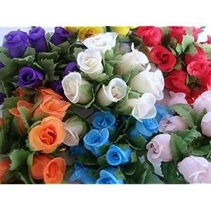 "144 Poly Silk Rose Flower 4"" Stem/leaf/trim/Wedding Bouquet/Artificial H415-Gold US Seller Ship Fast 4"