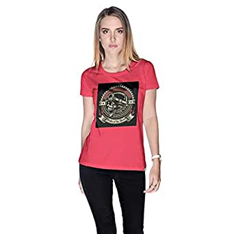 Creo Pirates Of The Desert Bikers T-Shirt For Women - L, Pink