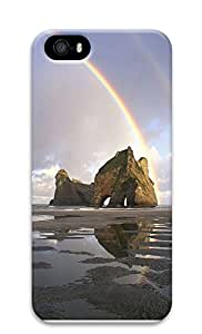 iPhone 5 5S Case Double Rainbows over a rock formation 3D Custom iPhone 5 5S Case Cover