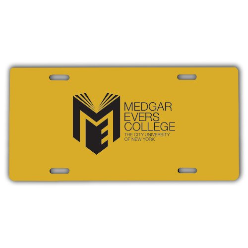 Medgar Evers License Plate 'Official Logo' by CollegeFanGear