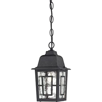 Nuvo Lighting Banyon Wall Lantern/Arm Up with Clear Water Glass