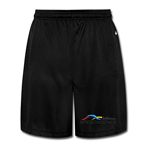 NImao Men's Speed Scenes Logo Racing Shorts Sweatpants ()