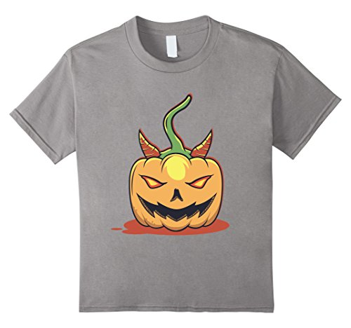 Kids Evil Pumpkin Patch Southern Country Halloween Costume Tee 10 Slate (Cute Country Girl Halloween Costumes)