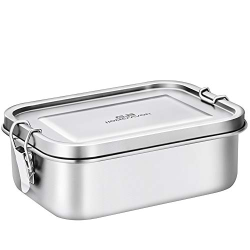 Bento Lunch Box, G.a HOMEFAVOR Stainless Steel Lunch Containers Leakproof, Metal Lunch Containers for Kids Adults, 800ML, Dishwasher Safe, BPA ()