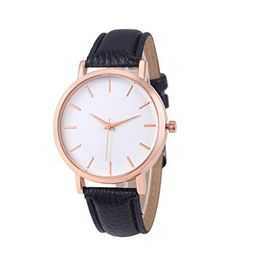 Xinantime Relojes Pulsera Mujer,Xinan Cuero PU Acero Inoxidable Analógico Cuarzo Reloj (Negro): Amazon.es: Deportes y aire libre