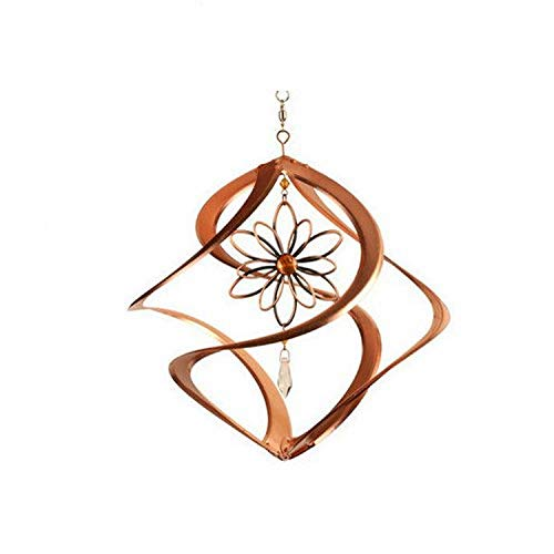 Red Carpet Studios Military Spiral Cosmix Wind Spinner with Wire Flower