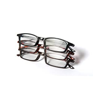Optx 20/20 Classic Reading Glasses, +150 (Pack of 3)
