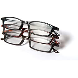 Optx 20/20 Classic Reading Glasses, +250 (Pack of 3)