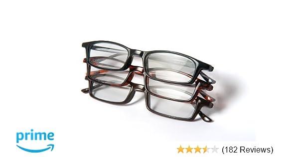 Amazon.com: Optx 20/20 Classic Reading Glasses, 250 (Pack of 3 ...