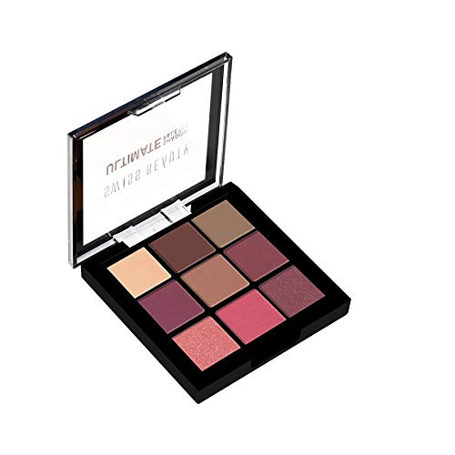 Swiss Beauty Ultimate 9 Color Eyeshadow Palette, Eye MakeUp, Multicolor-01, 9g