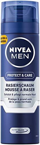 NIVEA MEN Protect & Care Rasierschaum im 6er Pack (6 x 200 ml), Schutz und Pflege für eine sanfte Rasur, hautschonender Rasierschaum für Herren