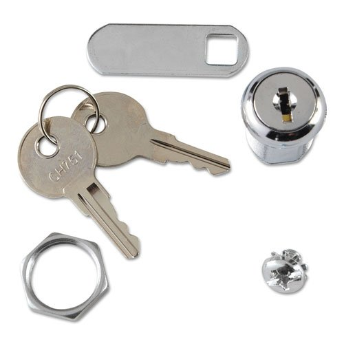 Rubbermaid Commercial Replacement Lock amp; Key for Locking Janitor Cart Cabinet - Includes one each. (Locking Cabinet Carts)