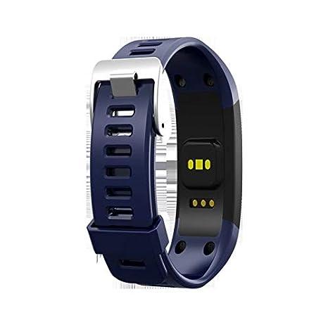 Amazon.com: Pulsera inteligente impermeable Deportivo Negro pulsera Unisex reloj inteligente (Color : Blue): Cell Phones & Accessories