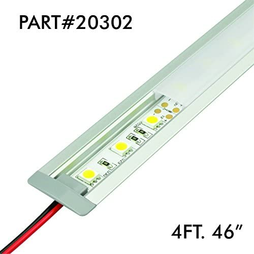 "Aluminum Profile for LED Strip//Tape Light Corner Mount Frosted TECLED 46/"" 4Ft"