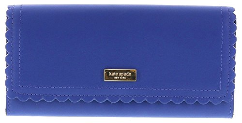 Kate Spade Italian Leather Scalloped Cyndy Bifold Wallet, Hya Blue