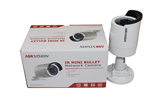 HIKVISION 4MP WDR IR Mini Bullet Network Camera, International Version, DS-2CD2042WD-I (4mm) by Hikvision