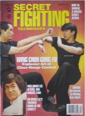 December 1992 Secret Fighting Techniques Magazine Ted Wong Randy Williams ()