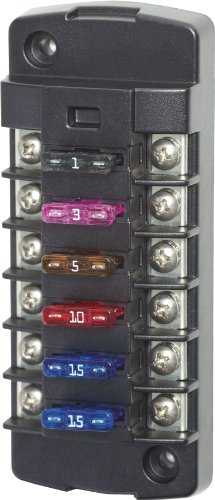 Blue Sea Systems ST Blade 6 Independent Circuit Fuse Block by Blue Sea Systems