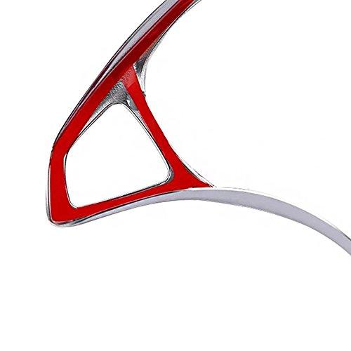 Emblem Trading Emblem Lenkrad Abdeckung Blende in ABS Kunststoff Chrom Silber Autozubeh/ör