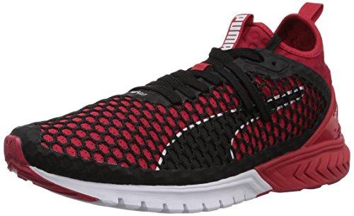 PUMA Men's Ignite Dual Netfit Sneaker, Toreador Black, 11.5 M US