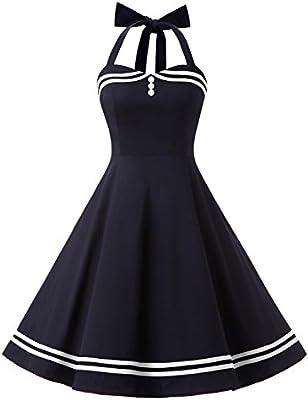 Find Dress Women 50s Vintage Short Halter Cocktail Dress