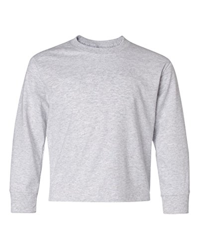 Jerzees Youth Heavyweight BlendLong-Sleeve T-Shirt - Ash (50/50) - XL