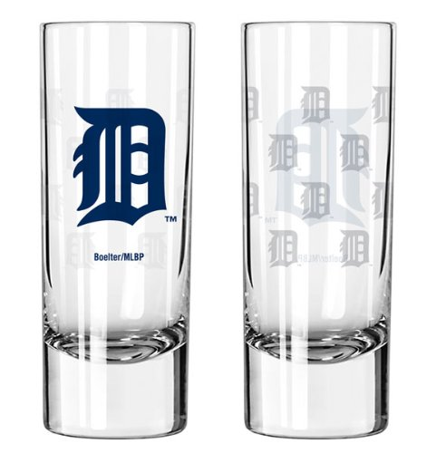 Boelter Detroit Tigers 2.5 oz. Satin Etch Collectible Shooter Glass