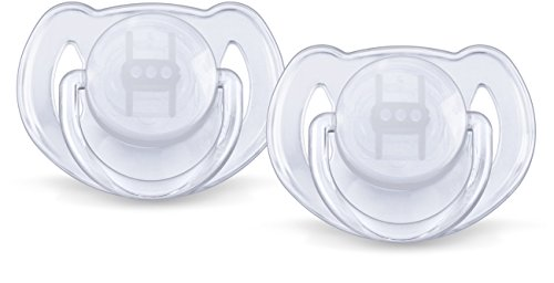 Philips Avent Orthodontic Pacifier, 6-18 Months, Translucent Colors SCF170/22, Colors May -