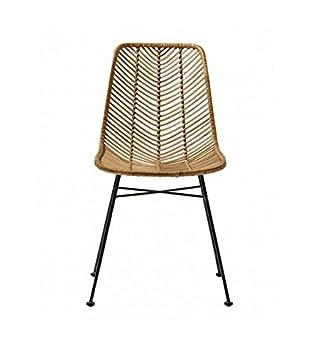 Bloomingville Chaise Design La En Rotin Lena Chair De Couleur Naturel