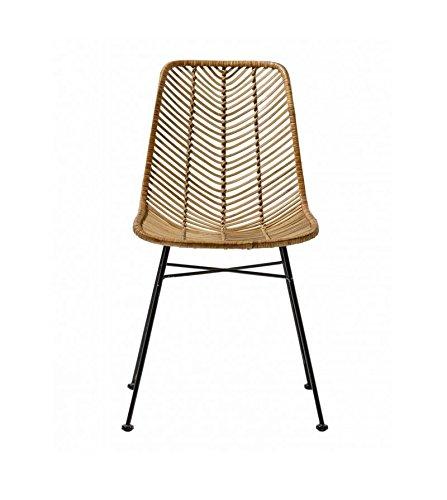 BLOOMINGVILLE Silla ratán Lena Chair, Natural, 0.000000 ...
