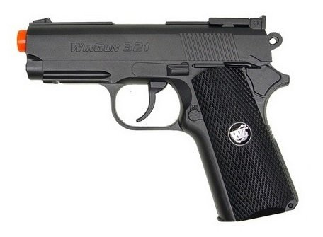 wg mini-tact gas airsoft pistola full metal co2 fps-400 (gunmetal) (pistola de airsoft)