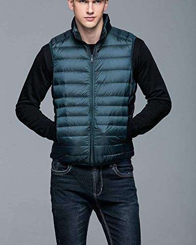 fashion Vest Fastener Jacket Sleeveless Slim Men's Solid Winter Warm Down Coat Color Lightweight Clásico See Boy Jacket Breathable Vest Blau Laisla dTvqd
