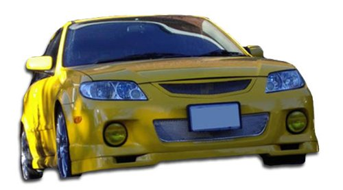 2001-2003 Mazda Protege 4DR Duraflex Speedzone Body Kit - 4 Piece - Includes Speedzone Front Lip Under Spoiler Air Dam (100374) Evo 2 Rear Bumper Cover (102145) M3 Side Skirts ()